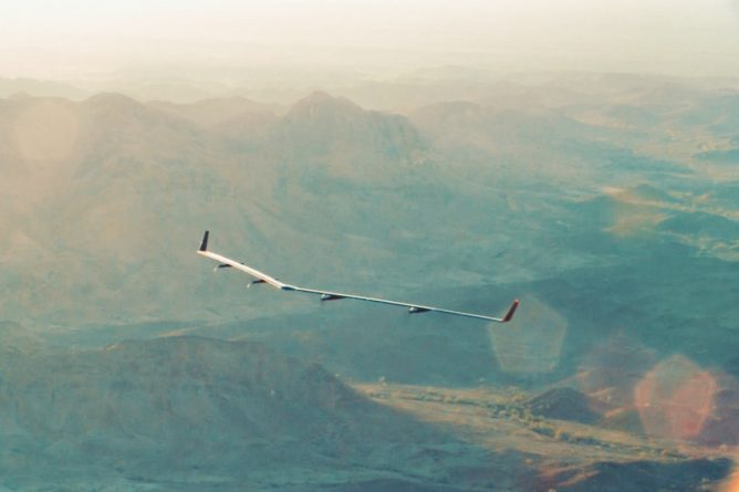 Facebook's solar-powered internet drone takes its first flight