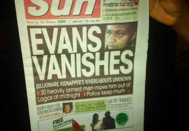 Nigeria Police debunks The Sun Newspaper story, say Evans still in Custody