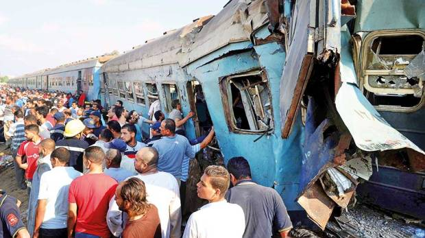 Egypt Train collide