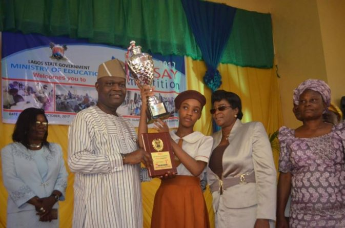 Adebule sees future literary giants as Omojola emerged as best Lagos schools' essayist