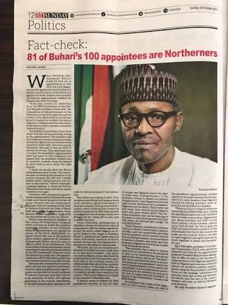 Re: 81 Of Buhari's 100 Appointees are Northerners